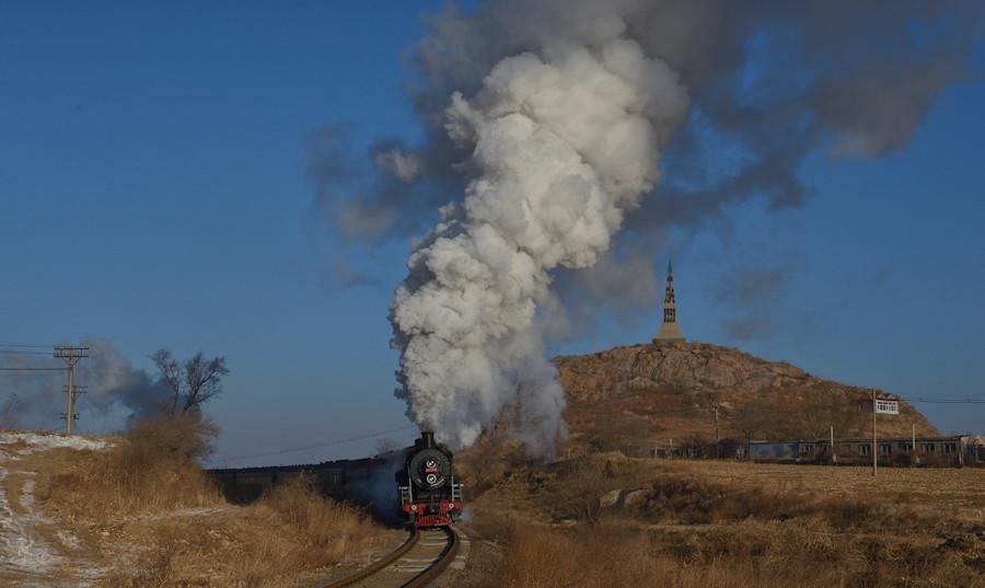 SY1772 Tiefa China Dampflok Tanago Eisenbahnreisen