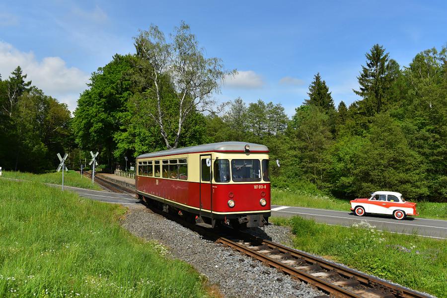 """Harz Triebwagen Baureihe 187 """"Fischstäbchen"""" Tanago Eisenbahnreisen"""