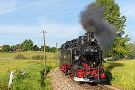 Full steam ahead on the Lößnitzdackel, May 2019, Tanago Railfan Tours/Eisenbahnreisen Erlebnisreisen
