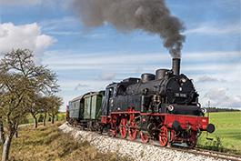 Germany: Amstetten – Gerstetten mit 75 1118, Oktober 2019, Tanago Railfan Tours/Eisenbahnreisen Erlebnisreisen