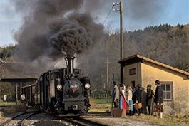 Österreich Steyrtal 01/2018 Dampflok Tanasgo Eisenbahnreisen