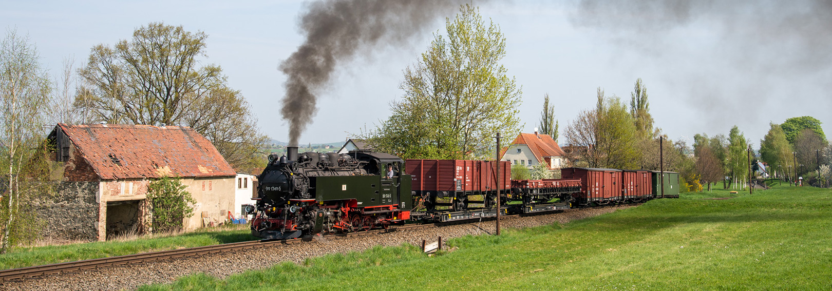 Saxony narrow gauge photo charter Tanago railfan tours
