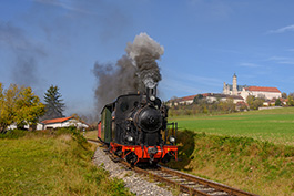 Germany: Narrow gauge on the Härtsfeldbahn; railcar Tanago Railfan tours photo charter