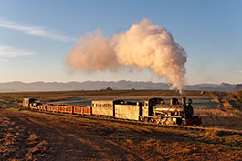 South Africa: Photo trains at Sandstone Farm, Tanago Railfan tours photo charter