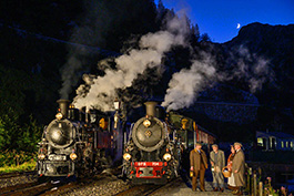 Swiss: Steam at Furka, railcar Tanago Railfan tours photo charter