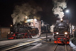 Germany: An evening at the depot Wernigerode, railcar Tanago Railfan tours photo charter