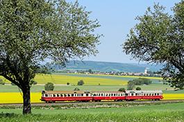 Tschechien Bardotka Taucherbrille Triebwagen Tanago Eisenbahnreisen